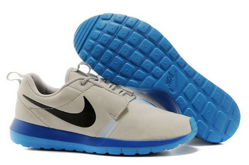 Nike Roshe Run Nm Br Mens Shoes Gray Black Blue Hot France
